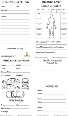 Security Incident Recollection Card